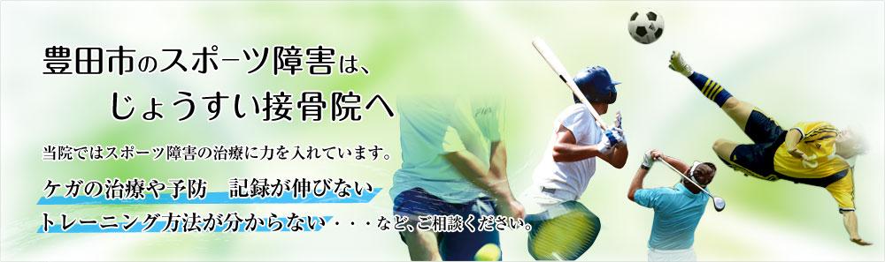 豊田市のスポーツ障害はじょうすい接骨院へ